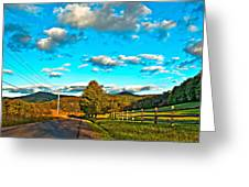 On The Road In Wv Greeting Card