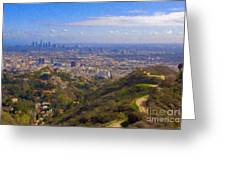 On The Road To Oz La Skyline Runyon Canyon Hiking Trail Greeting Card