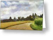 On The Road To Siena Greeting Card