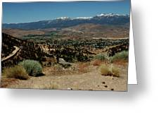 On The Road To Virginia City Nevada 20 Greeting Card