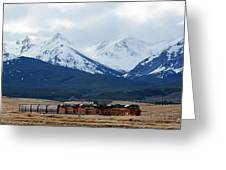 On The Rocky Mountain Front Greeting Card