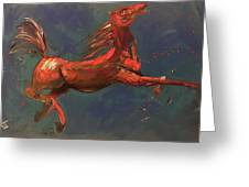 On The Run - Horse Greeting Card