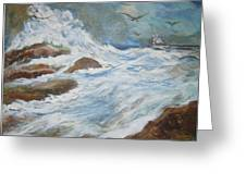 On The Sea Greeting Card