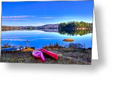 On The Shore Of Seventh Lake Greeting Card