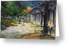 Village In Martinique Greeting Card