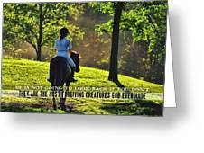 On The Showgrounds Quote Greeting Card