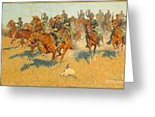 On The Southern Plains Frederic Remington Greeting Card