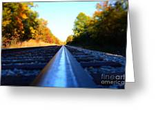 On The Track Greeting Card