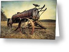 On The Water Wagon - Agricultural Relic Greeting Card by Gary Heller