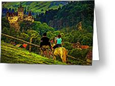 On The Way To Bran Castle Greeting Card