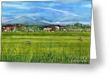 On The Way To Ubud 3 Bali Indonesia Greeting Card