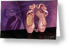 On Pointe - Mirror Image By Marilyn Nolan-johnson Greeting Card