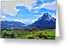 On Top Of Moorea Greeting Card