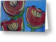 Once Upon A Yoga Mat Poppies 2 Greeting Card