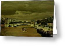 Oncoming Storm Paris France Greeting Card
