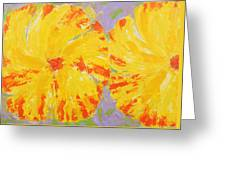One And A Half Flowers Greeting Card