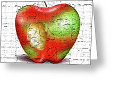 One Bad Apple Greeting Card by Cristophers Dream Artistry