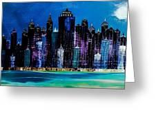 One City Night 9 Greeting Card