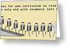 One Curriculum Greeting Card
