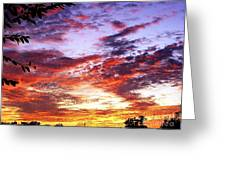 One Dawn Autumn Sky Greeting Card