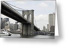 One Day At Brooklyn Bridge Greeting Card