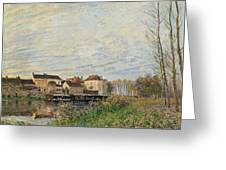One Evening At Moret End Of October Greeting Card