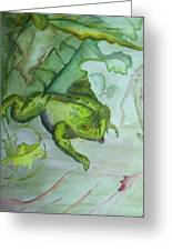 One Frog Greeting Card