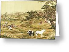 One Hundred Horses 5 Greeting Card