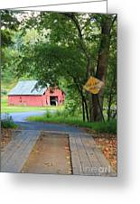 One Lane Bridge Greeting Card