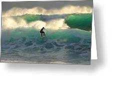 One Last Wave Dumps Maui Hawaii Greeting Card