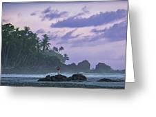 One Man Island Greeting Card