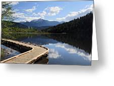 One Mile Lake Walkway Pemberton Greeting Card