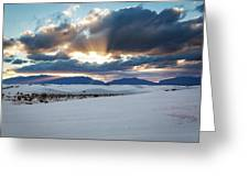 One More Moment - Sunburst Over White Sands New Mexico Greeting Card