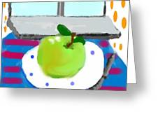 One Morning Apple Greeting Card