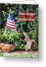 One Nation Under God Greeting Card