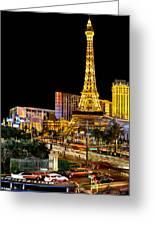 One Night In Vegas Greeting Card