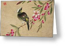 One Of A Series Of Paintings Of Birds And Fruit, Late 19th Century Greeting Card