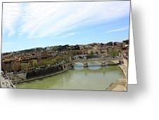 One Of Rome's Bridge Greeting Card