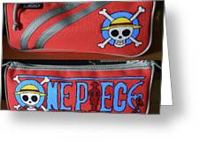 One Piece Pencase Greeting Card