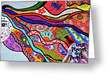 One Planet One People Greeting Card