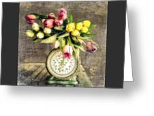 One Pound Tulips Greeting Card