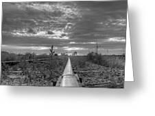 One Rail Greeting Card