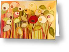 One Red Posie Greeting Card by Jennifer Lommers
