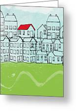 One Red Roof Greeting Card