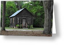 One Room School House Greeting Card