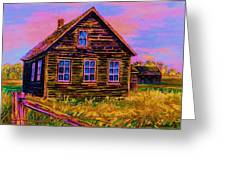 One Room Schoolhouse Greeting Card