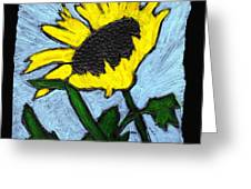 One Sunflower Greeting Card