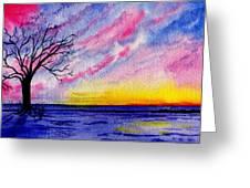 One Sunrise Greeting Card
