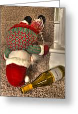 One Too Many Greeting Card by Don Wolf