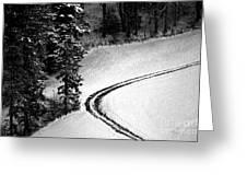 One Way - Winter In Switzerland Greeting Card